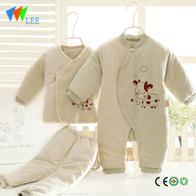 100% cotton newborn baby clothing gift sets printing lovely