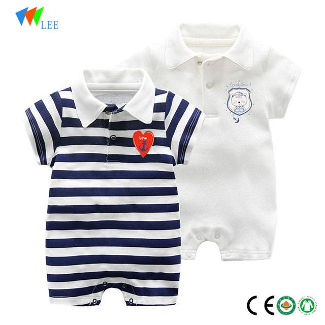 new design wholesale 100 % cotton body suit baby romper