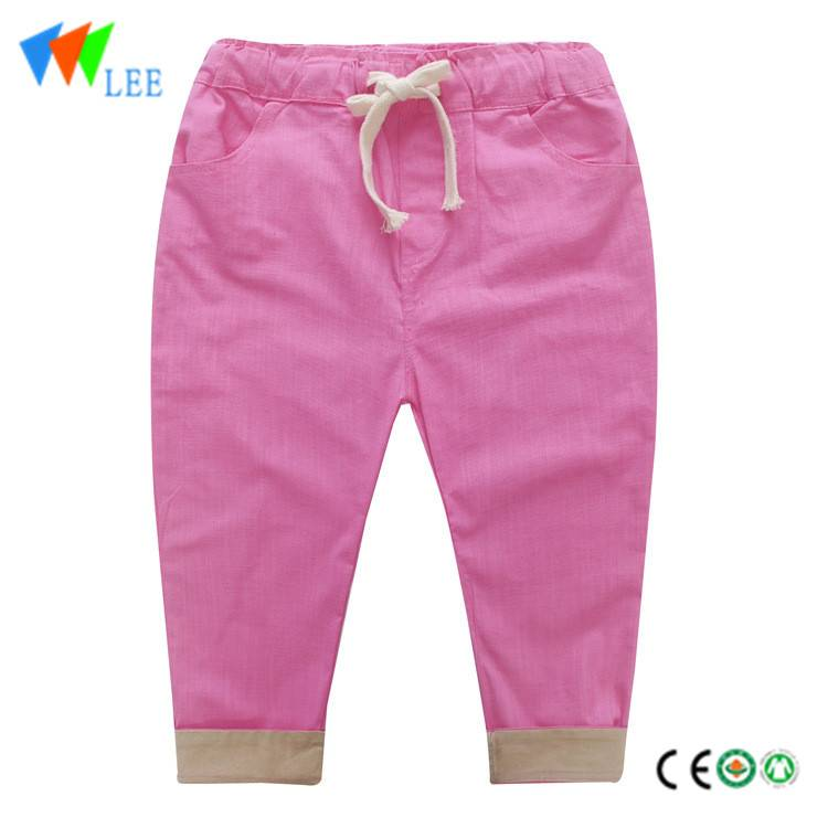 children baby pants spring summer cotton legging simple design children girls trousers
