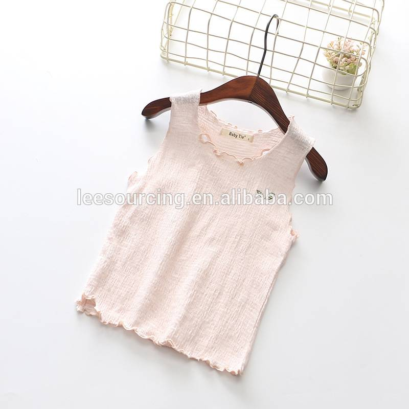 Buy factory price no sleeve children t shirt tops cotton girl t shirt