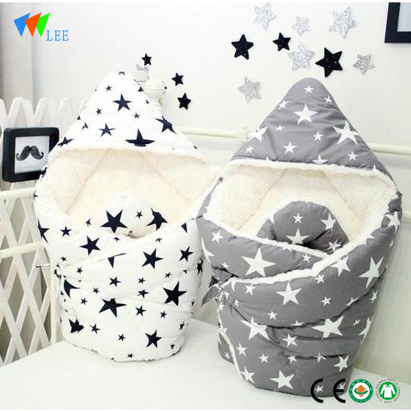 New style and  fashionable newborn baby bamboo fiber printing sleeping bag   blanket wholesale