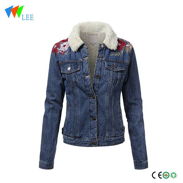 Long-Sleeve Regular & Plus Size kids maong jacket