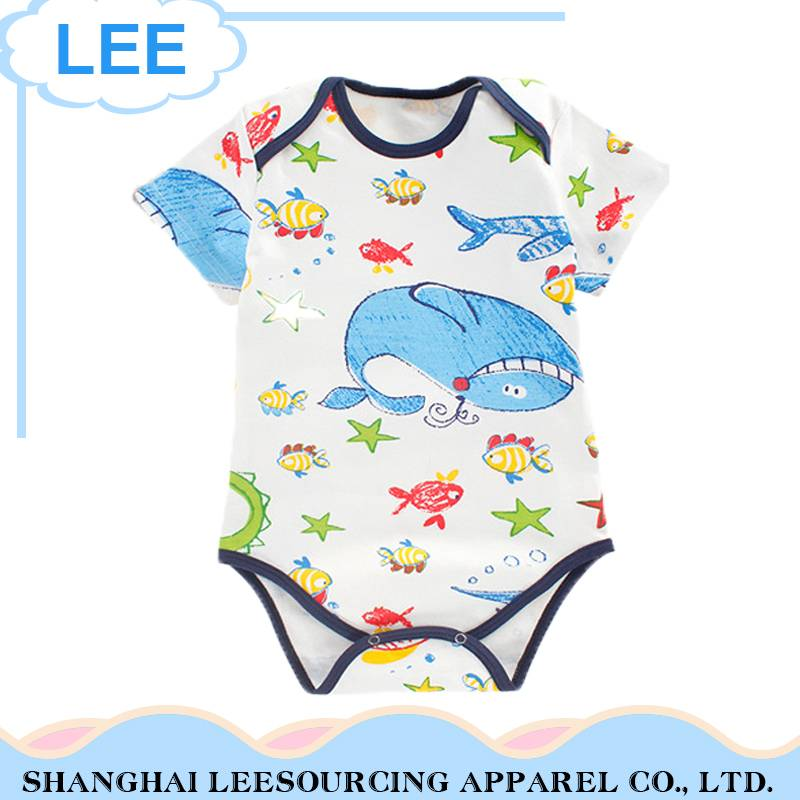 2017 Wholesale Baby Clothes New Born Bamboo Baby Romper
