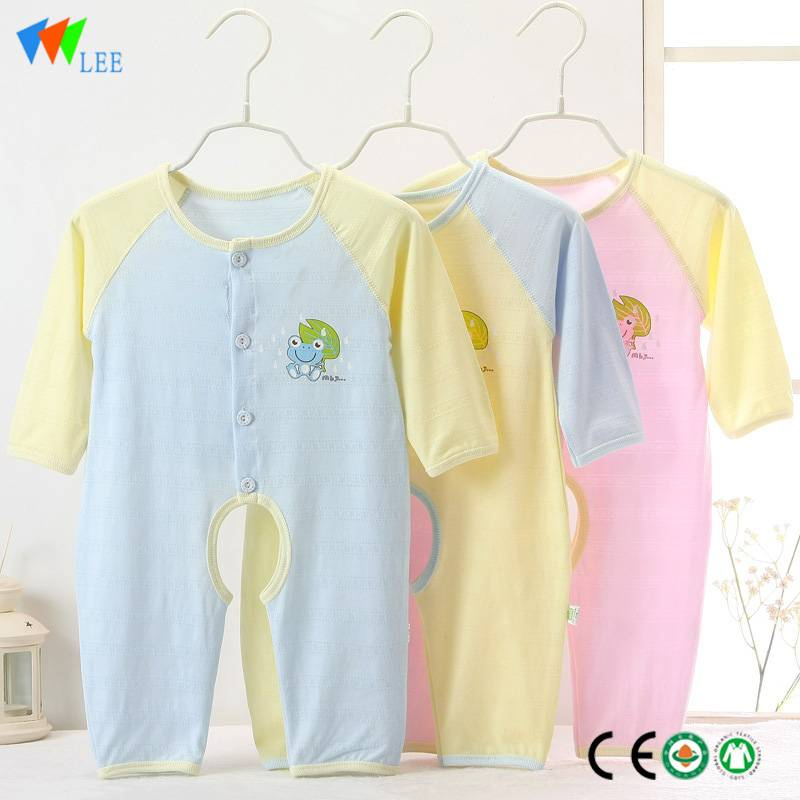 hot sale Top quality eco friendly soft baby clothes romper organic bamboo baby romper