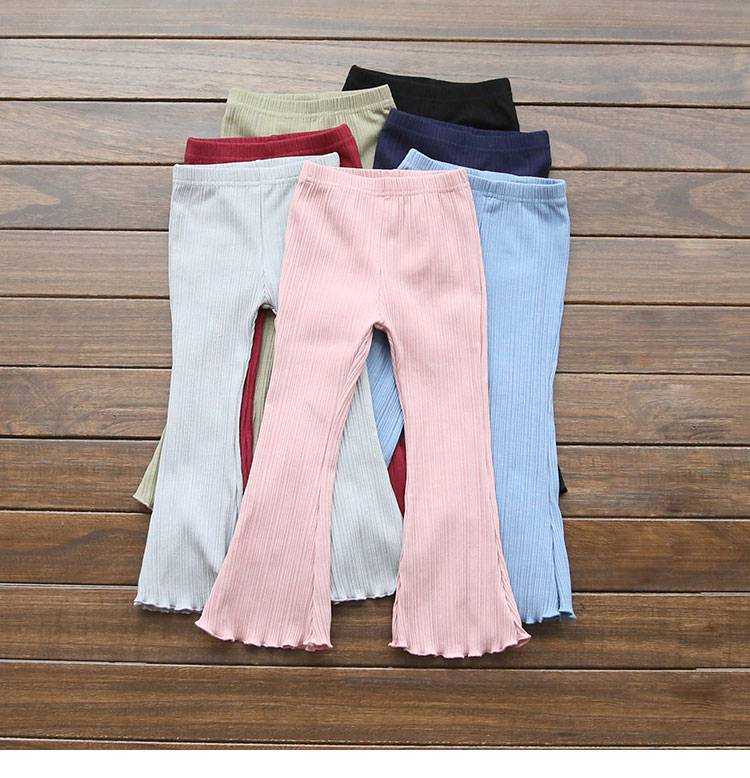 Wholesale Children Boutique Ruffle Pants Baby colorful Icing Leggings