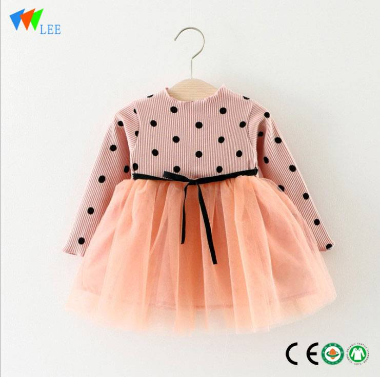 Fashionable angel kids 100% cotton baby girl dress