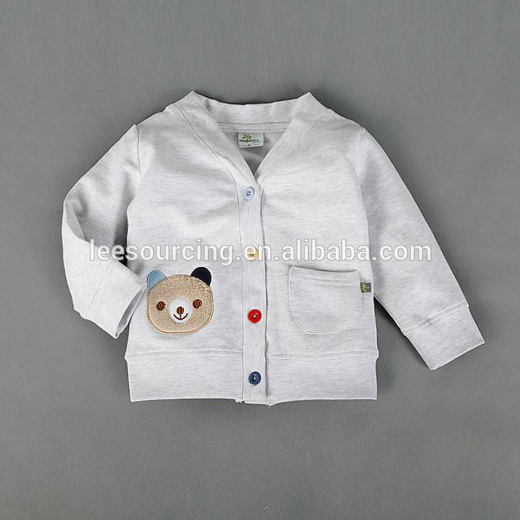 Fashion kids wear baby cotton coat boys cute white jacket kids clothing tops wholesale
