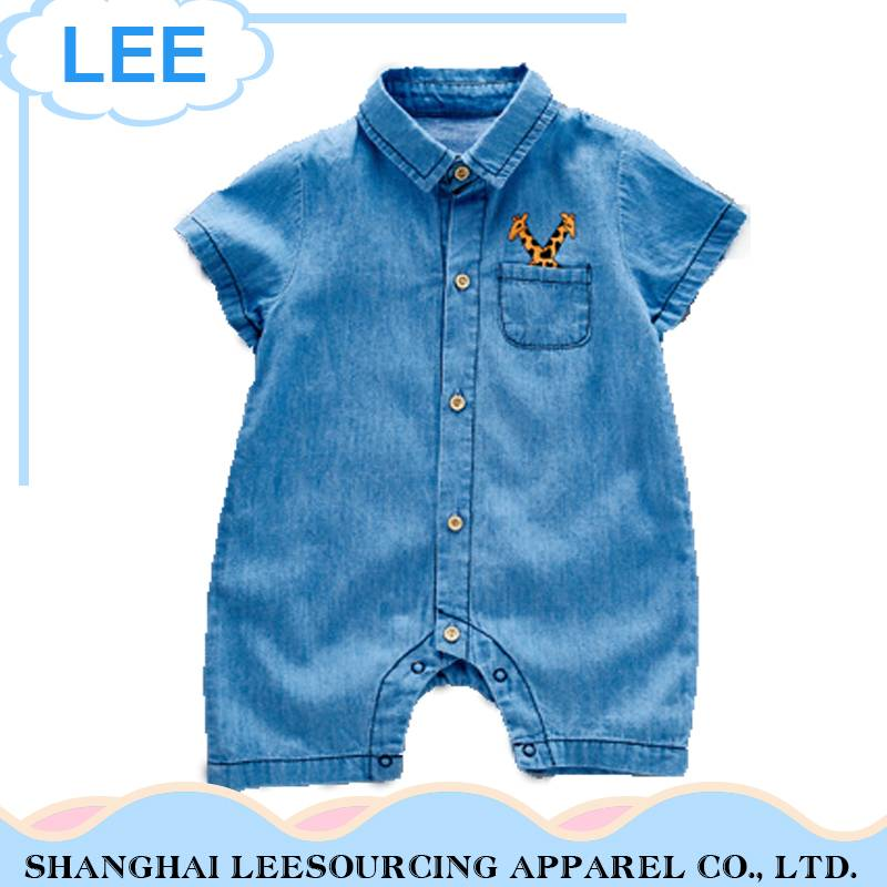 2017 Wholesale Baby Clothes Jeans Baby Girls Romper