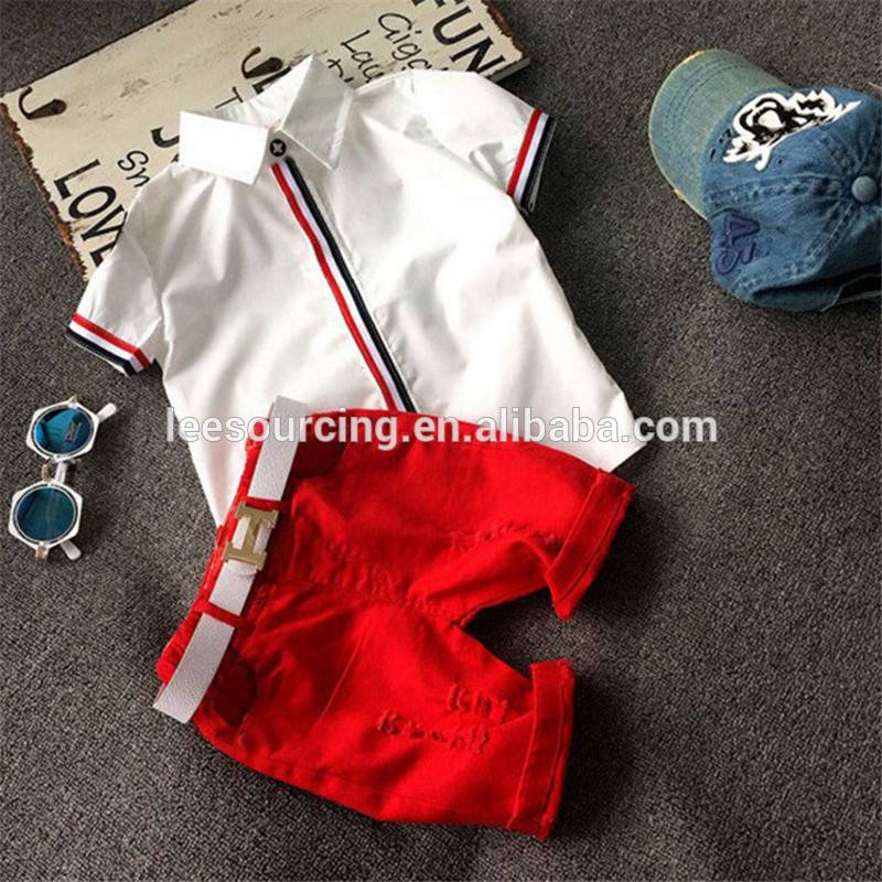Summer kids clothing pattern outfit baby boy 2pcs baby clothing set
