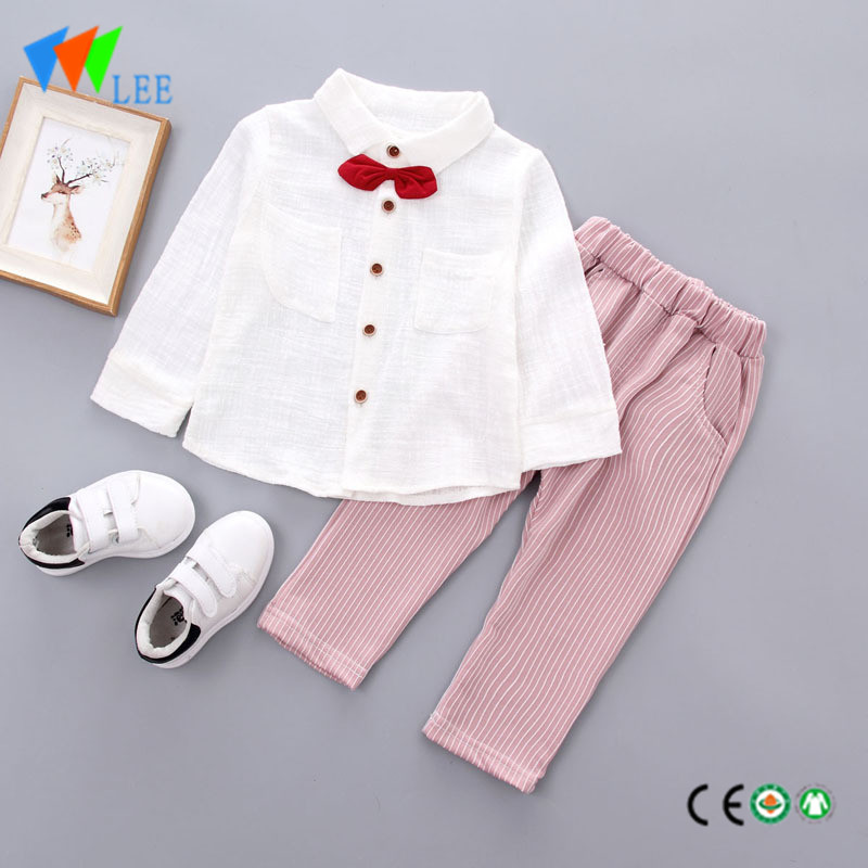 girls clothing spring long sleeve blouse long pants 100 cotton kids children clothes sets