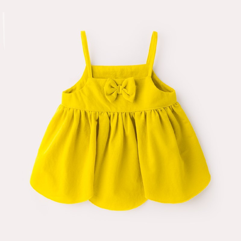 Wholesale vintage-style Cute 100% cotton Kids Strap Baby Dress