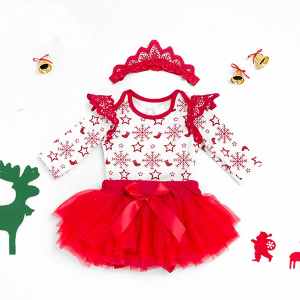 0-2T 100% cotton boutique christmas baby girls clothing sets
