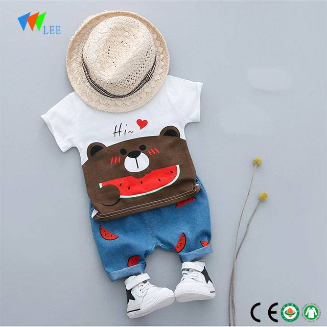 0-2T wholesale 100% cotton casual baby boy clothes clothing sets