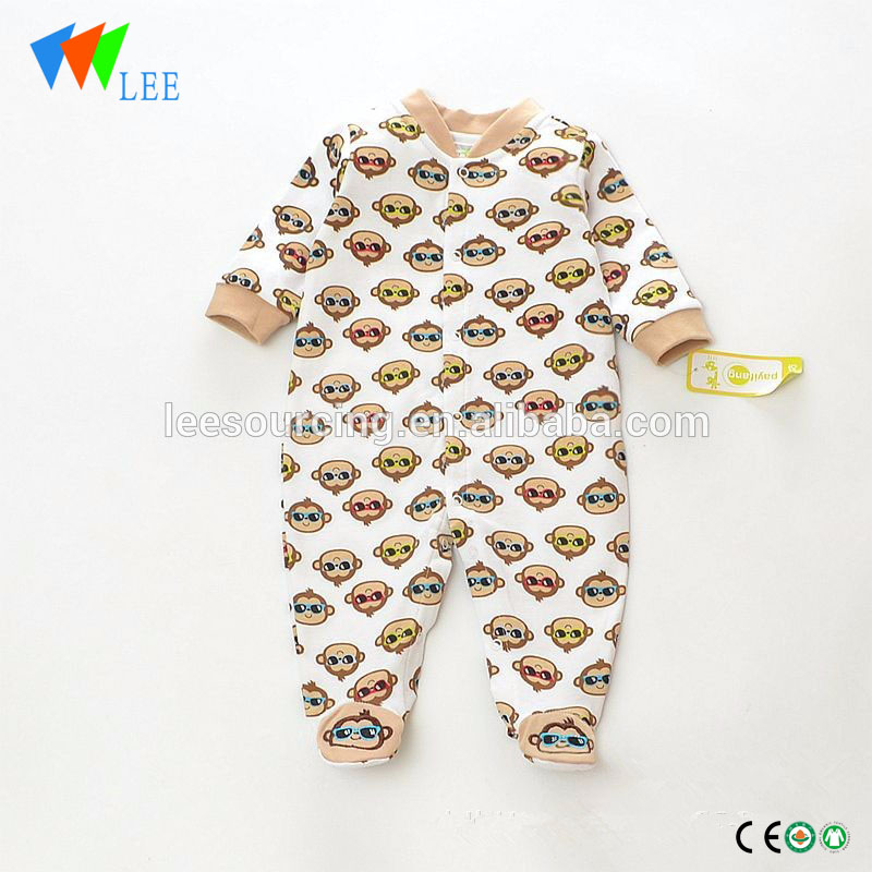 Wholesale animal printing baby clothes 100% cotton baby romper