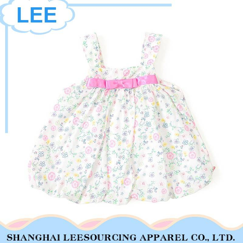 Casual Style Comfortable Fabric White Baby Girl Vest Dress Skirt
