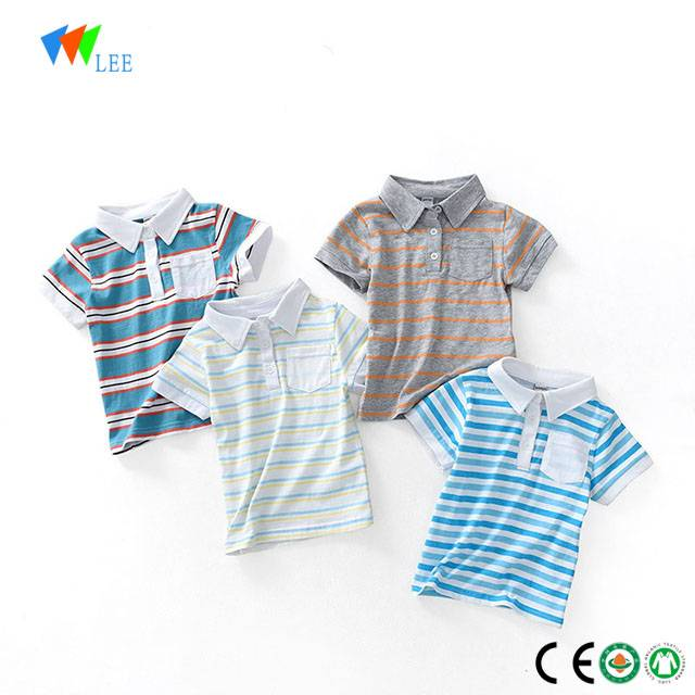 wholesale fashion polo shirt for baby boys kids