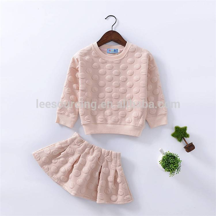 Wholesale Pink Girls Cotton Clothing Sets For Children Top uye mupendero