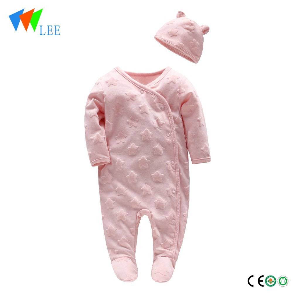 2018 new design baby girl piece romper baby clothing set climbing clothing tire caps