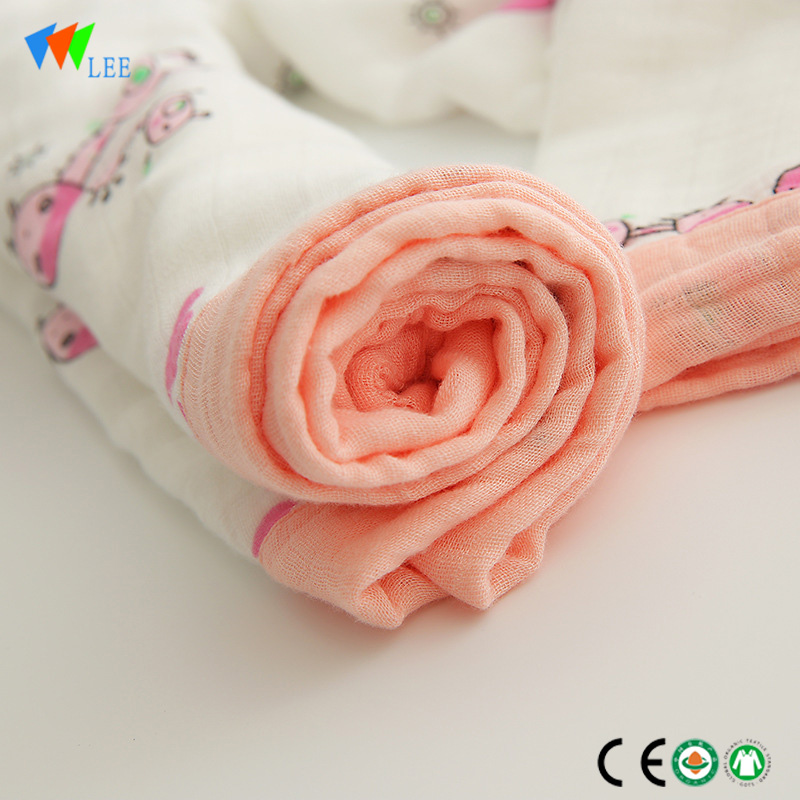 latest new design and fashionable style wholesale high quality soft baby bamboo fiber muslin  blanket