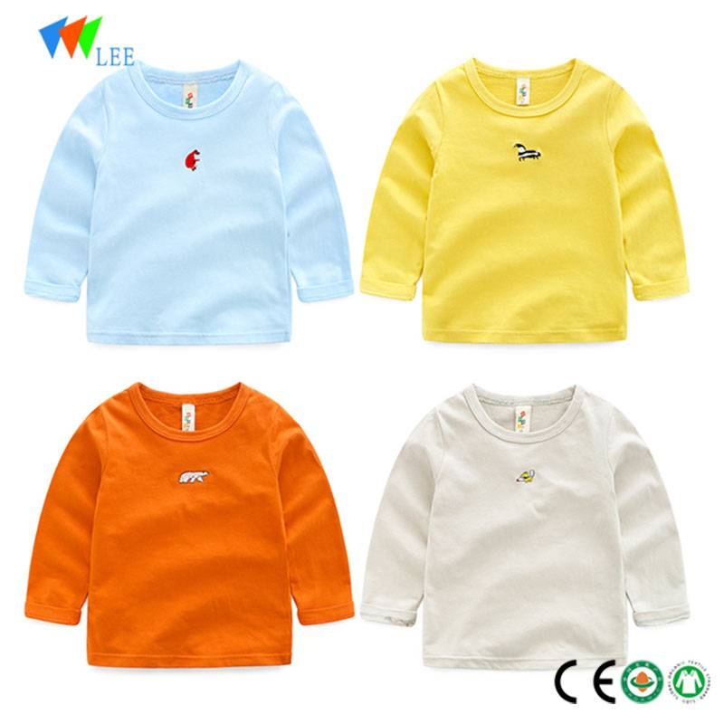 wholesale fashion cotton long sleeve t-shirt for baby child