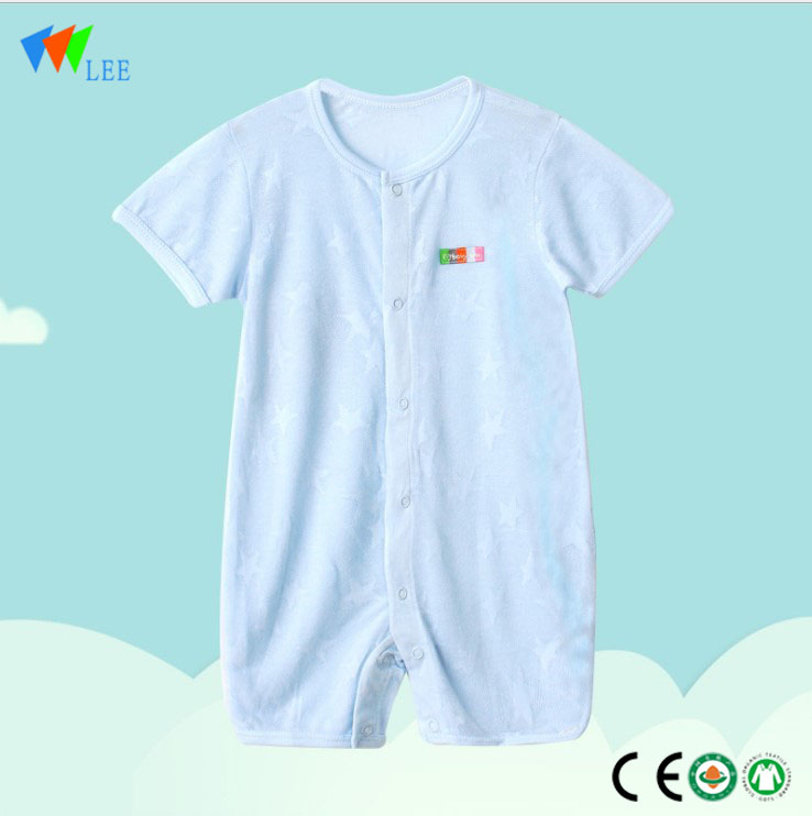 New fashion soft good price Baby clothing Bamboo Cotton Plain White Newborn Baby Clothes Romper