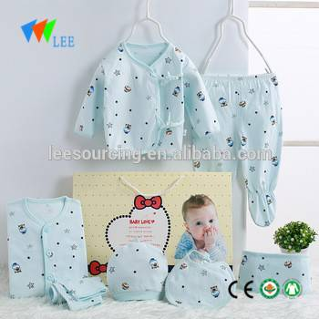 New design 100% cotton newborn baby clothing gift set beautiful clothes infant outfits