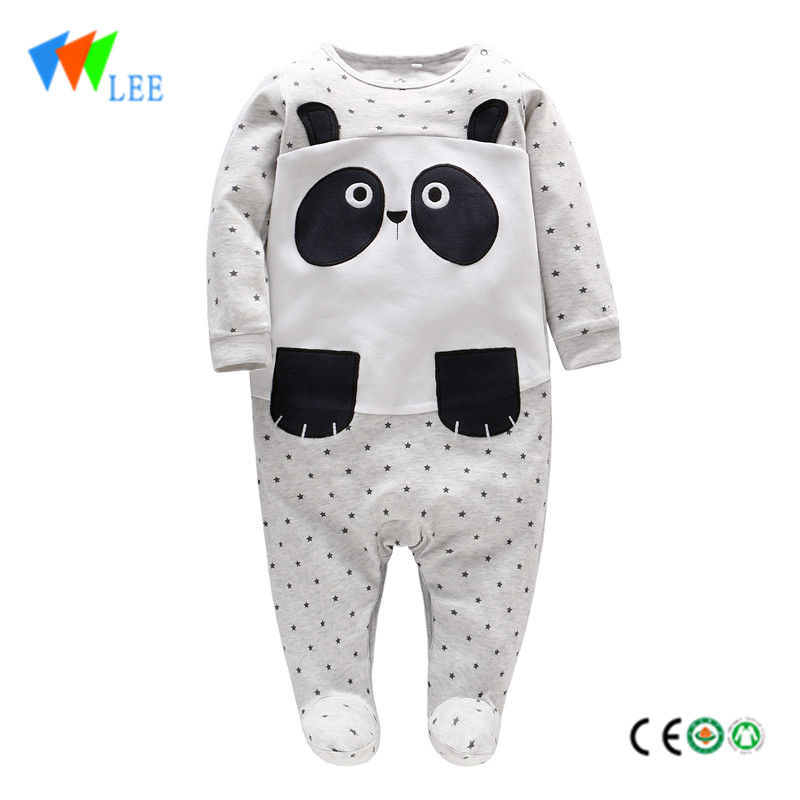 Spring autumn long sleeve long leg animal clothing body wear custom print rompers