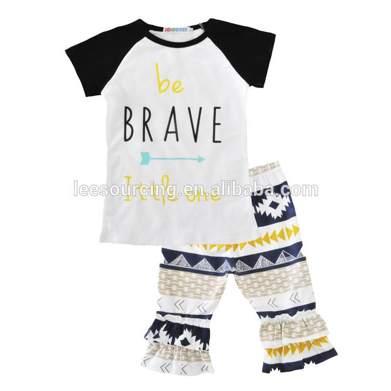 Wholesale short sleeve T-shirts and pants set children clothes set