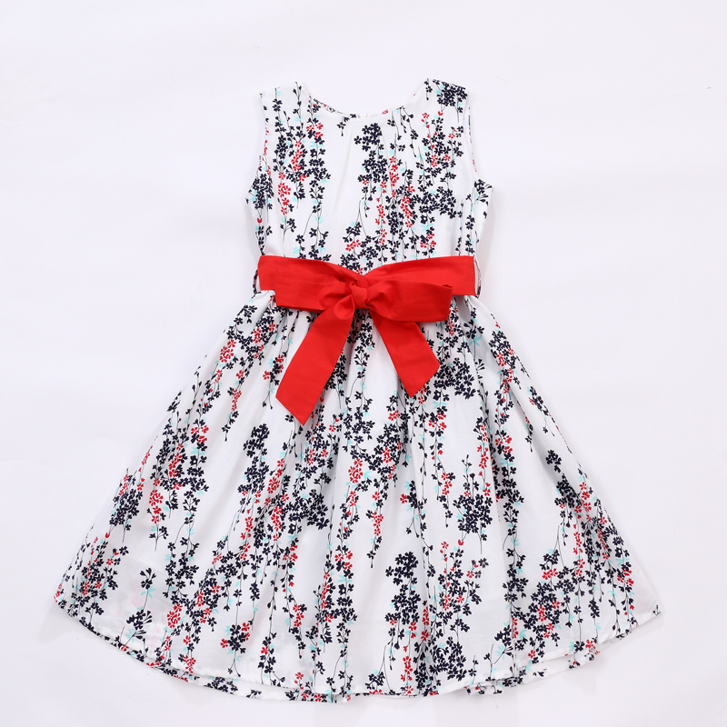 Wholesale kids apparel baby girl floral long dress for 5 years old children