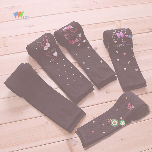 soft child girls custom printed cotton leggings