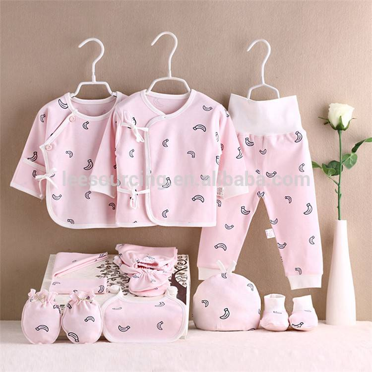 Wholesale Newborn Cotton Printing Baby Gasa Set