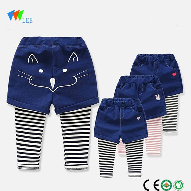 high quality baby girls autumn cotton striped leggings