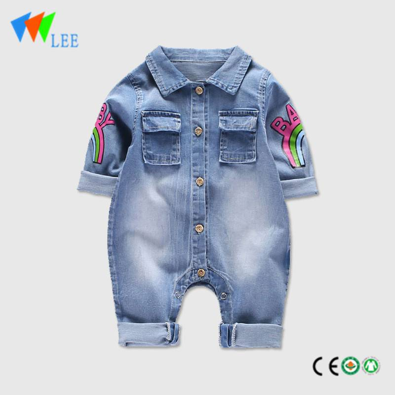 high quality baby denim clothing romper