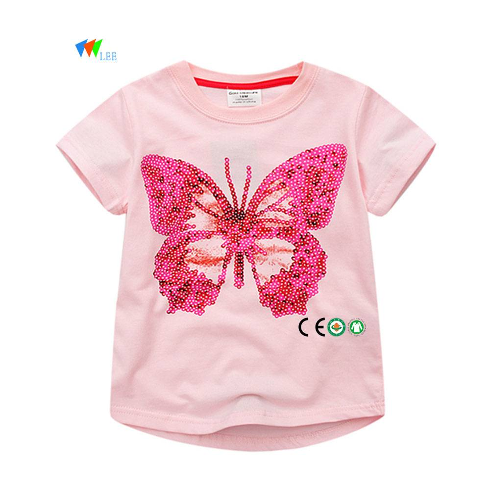 0-2T high quality wholesale fashion cotton baby kids t-shirt