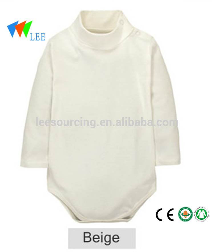 Wholesale Soft Cotton Long Sleeve Bodysuit Baby Winter Grow Romper