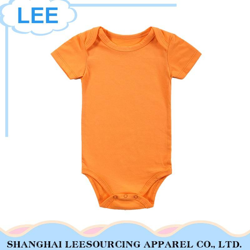 Wholesale Plain Summer Short Sleeve Cartoon Bamboo Baby Onesie