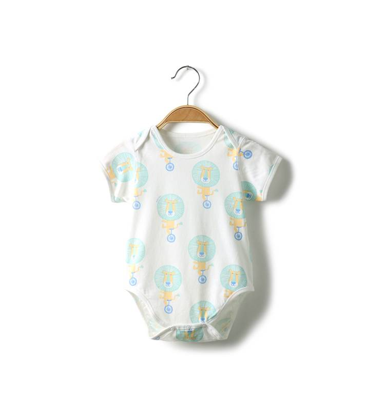 Customized Printing baby bamboo clothing100% cotton plain romper