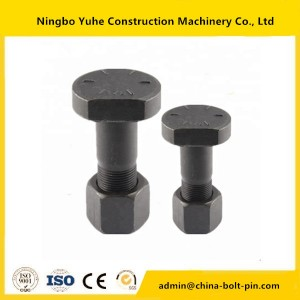 high quality Hexagonal Excavator Bolt and Nut 1D-4642 hexagonal bolt