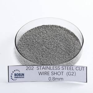 Stainless steel cut wire shot 0.8mm G2