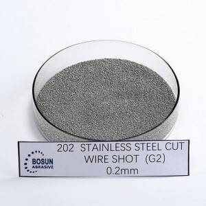 SUS304/430/202 stainless steel cut wire shot 0.2mm G2