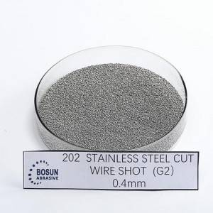 SUS304/430/202 stainless steel cut wire shot 0.4mm G2