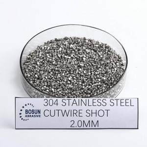 Stainless Steel Cut Wire Shot 2.0mm As cut
