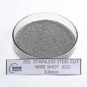 stainless steel cut wire shot 0.6mm G2