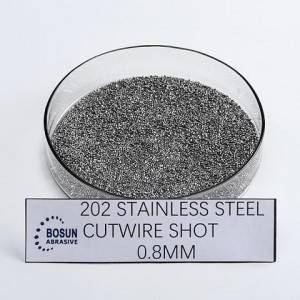 Stainless steel cut wire shot 0.8mm as cut