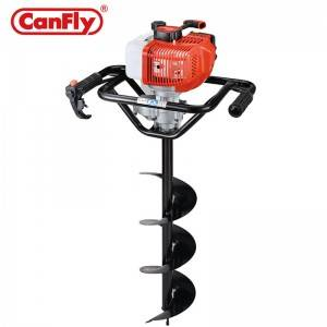 Canfly 48F 62CC gasoline earth auger petrol digger ground drill