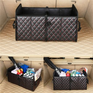 Embroidery Premium Quality Trunk Cargo Organizer Collapsible Cargo Storage box