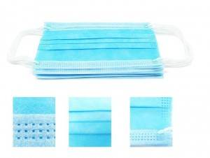 IN STORE Watertight Comfortable Hospital Non Woven Breathable One Time Use Face Mask For Adults