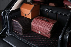 Factory wholesale Collapsible Plastic Car Trunk Cargo Organizer With Cover