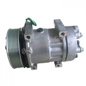 Hot New Products China Auto Parts AC Compressor for Universal Car 709/7h15 2A or 24V 132mm