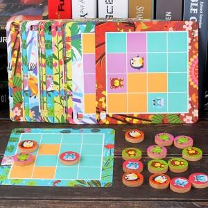 Animal logic games (16) children 3-6 years old puzzle board toy board game